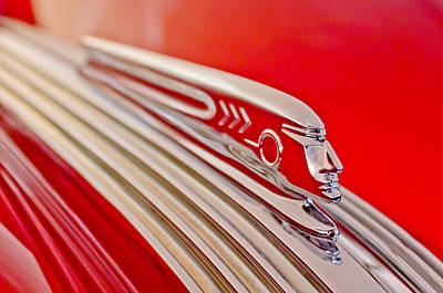 Hoodies Photograph - 1937 Pontiac Chief Custom Hood Ornament by Jill Reger