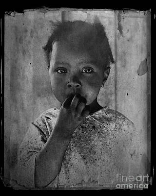 Photograph - 1937 Portrait Child Of Tenant Farmer by Audreen Gieger