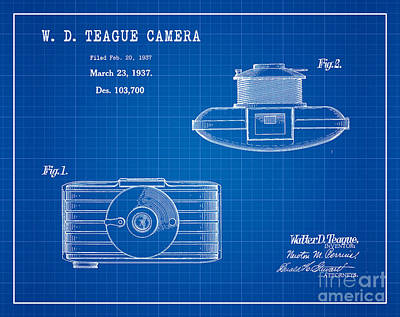 1937 Walter D. Teague Camera Patent Art 2 Art Print