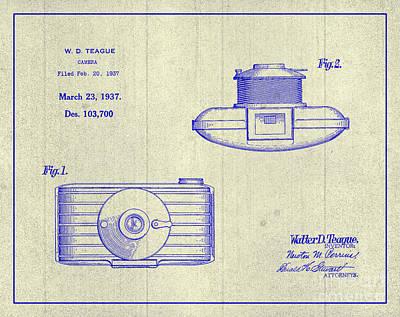 1937 Walter D. Teague Camera Patent Art 3 Art Print