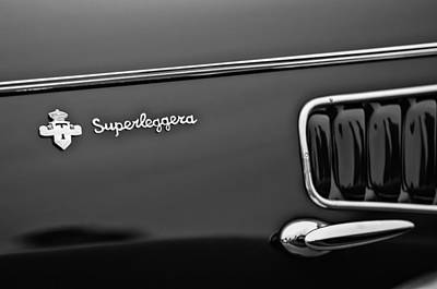 Photograph - 1938 Alfa Romeo 6c 2300 Touring Coupe Superleggera Emblem by Jill Reger