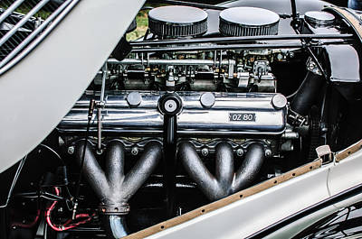 Photograph - 1938 Bmw 327-8 Cabriolet Engine -1513c by Jill Reger