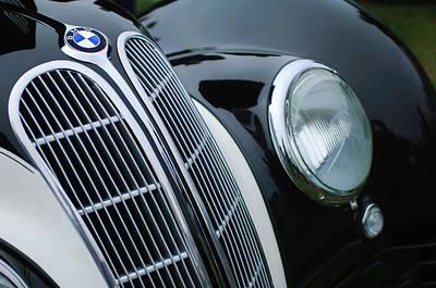 Bmw Vintage Cars Photograph - 1938 Bmw 327-8 Cabriolet Grille Emblem by Jill Reger