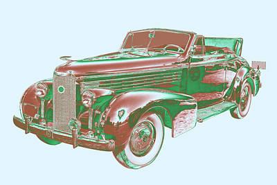 Photograph - 1938 Cadillac Lasalle Antique Pop Art by Keith Webber Jr