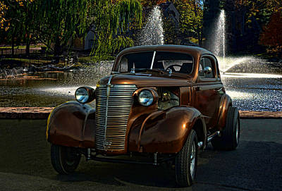 Photograph - 1938 Chevrolet Coupe Street Dragster by Tim McCullough