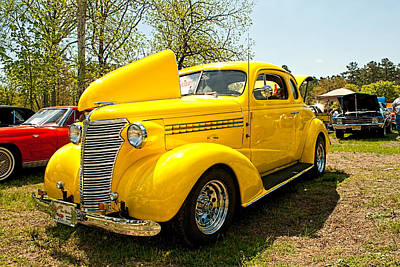 Photograph - 1938 Chevy Business Coupe by Kristia Adams