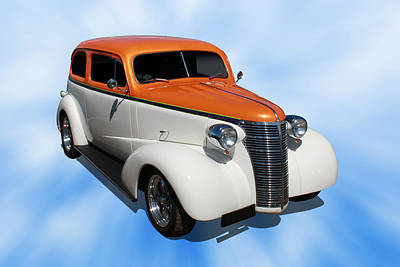 Print featuring the photograph 1938 Chevy Tudor by Keith Hawley