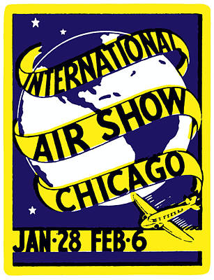 Painting - 1938 Chicago International Air Show  by Historic Image