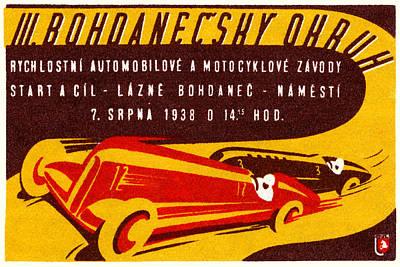 Czech Republic Painting - 1938 Czech Motor Racing by Historic Image