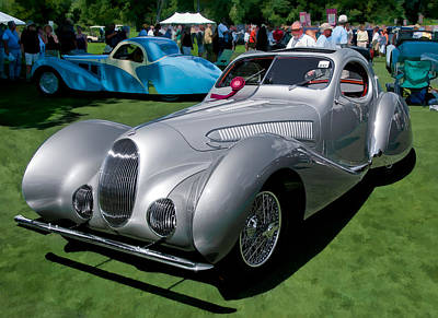 Photograph - 1938 Darracq/talbot Lago T150c by James Howe