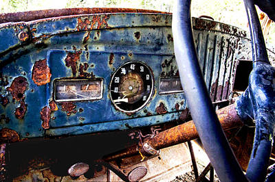 Photograph - 1938 Dodge Vintage Military Truck Abstract  by Jerry Cowart
