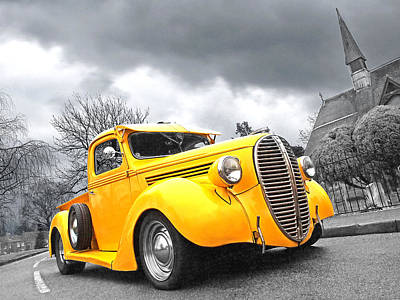 Classic Hot Rod Photograph - 1938 Ford Pickup by Gill Billington