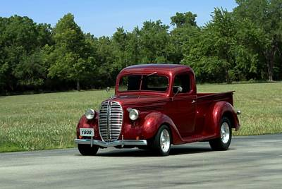Photograph - 1938 Ford Pickup Hot Rod by Tim McCullough