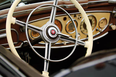 Photograph - 1938 Mercedes-benz 540k Special Roadster  Steering Wheel by Jill Reger