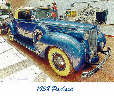 1938 Packard National Automobile Museum Reno Nevada Art Print by A Gurmankin