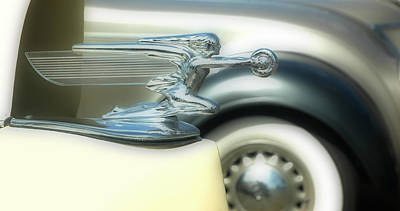 Photograph - 1938 Packard Winged Lady Hood Ornament by Ginger Wakem