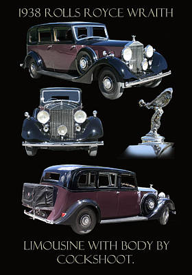 1938 Rolls Royce Limousine Art Print by Jack Pumphrey