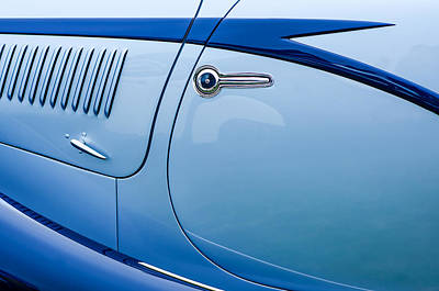 Old Car Door Photograph - 1938 Talbot-lago 150c Ss Figoni And Falaschi Cabriolet Side Door Handle by Jill Reger