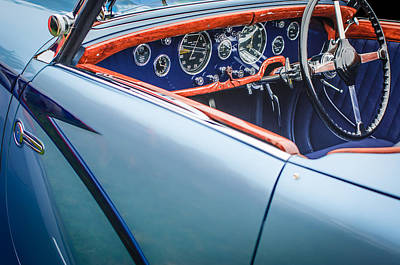 Photograph - 1938 Talbot-lago 150c Ss Figoni And Falaschi Cabriolet Steering Wheel by Jill Reger
