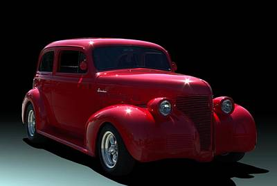 Photograph - 1939 Chevrolet Sedan Hot Rod by Tim McCullough