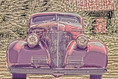Auto Photograph - 1939 Chevy Immenent Front Color by Lesa Fine