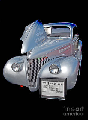 Chevy Coupe Photograph - 1939 Chevy by Skip Willits