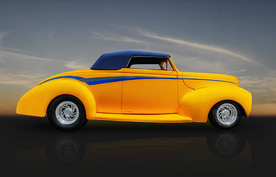Photograph - 1939 Ford Cabriolet Convertible by Frank J Benz