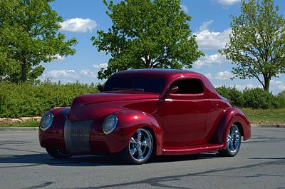 Photograph - 1939 Ford Custom Coupe Street Rod by Tim McCullough