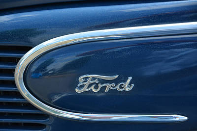 1939 Ford Emblem Art Print by Mike Martin