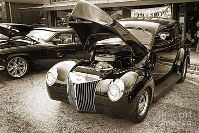Photograph - 1939 Ford Sedan Antique Classic Car In Sepia 3412.01 by M K Miller
