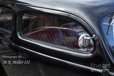 Photograph - 1939 Ford Sedan Classic Car Side Door In Color 3415.02 by M K Miller