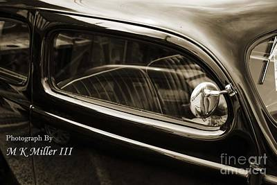 Photograph - 1939 Ford Sedan Classic Car Side Door In Sepia 3415.01 by M K Miller