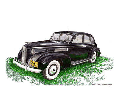 Buick Painting - 1939 Lasalle 5019 Sedan by Jack Pumphrey
