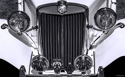 Photograph - 1939 Mg Classic In Black And White by Jordan Blackstone