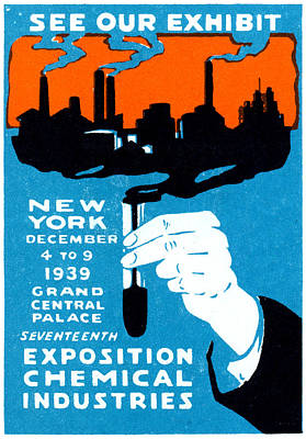 Painting - 1939 Nyc Chemical Expo Poster by Historic Image