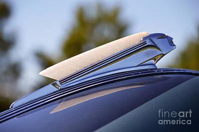 1939 Pontiac Silver Streak Photograph - 1939 Pontiac Sedan Hood Ornament by Catherine Sherman