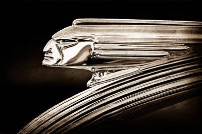 1939 Pontiac Silver Streak Photograph - 1939 Pontiac Silver Streak Chief Hood Ornament by Jill Reger