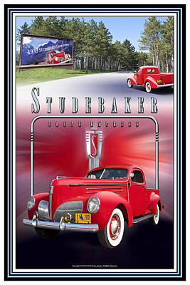 Photograph - 1939 Studebaker Coupe Express by Ed Dooley