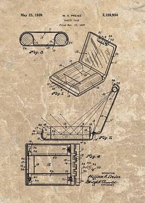 1939 Vanity Case Patent Art Print