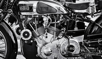 Photograph - 1939 Vincent Hrd Series A Rapide Monochrome by Tim Gainey