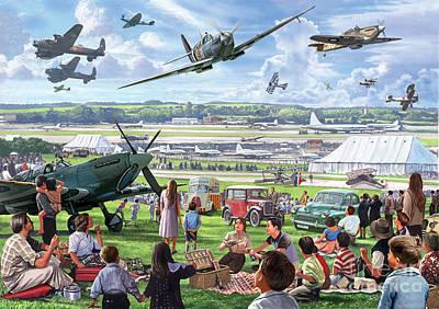 Lancaster Bomber Digital Art - 1940 Airshow by Steve Crisp