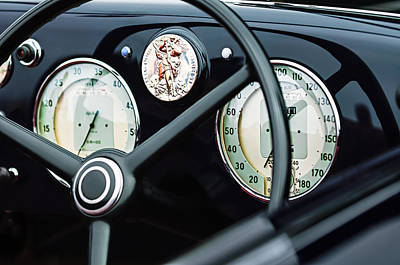 Photograph - 1940 Alfa Romeo 6c 2500 Ss Graber Cabriolet Steering Wheel - Guages by Jill Reger