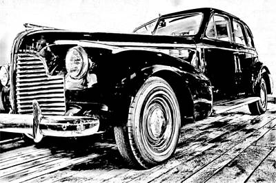 Buick Drawing - 1940 Buick Century by John Haldane