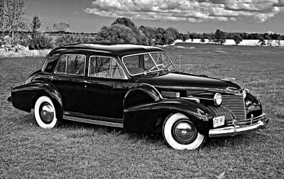 Cadilac Photograph - 1940 Cadilac Bw by Steve Harrington
