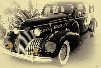 1940 Cadillac Limo Art Print by Tony Grider
