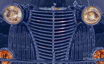 Automotive Art Series Wall Art - Digital Art - 1940 Cadillac Series 62 Coupe by GabeZ Art