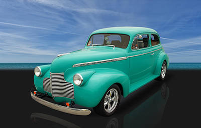 1940 Chevrolet Special Deluxe 2 Door Sedan Art Print