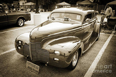 Photograph - 1940 Chevrolet Master Fine Art Classic Car Automobile Sepia  311 by M K Miller