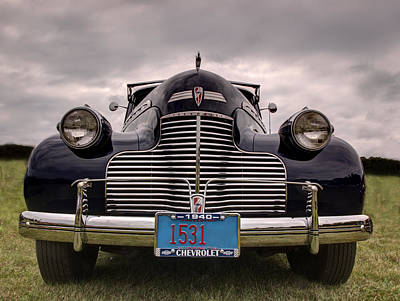 Popstar And Musician Paintings Royalty Free Images - 1940 Chevrolet Royalty-Free Image by Thomas Young