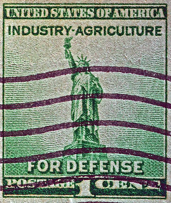 Photograph - 1940 For Defense Stamp by Bill Owen